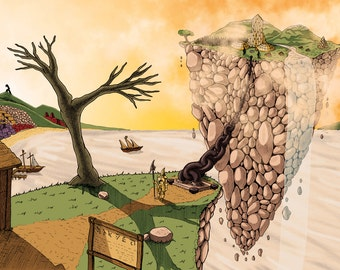 Floating Island A3 Print