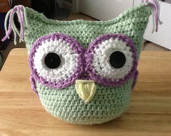 Crochet stuffed owl - nursery decor -toy