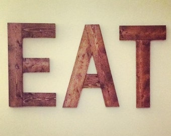 EAT Sign - Reclaimed Wood Letters