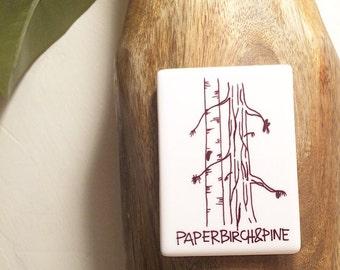 Paper Birch & Pine Magnet