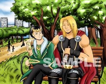 Thor x Kid Loki Print