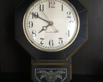 Vintage General Electric Black Wall Clock