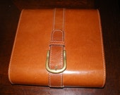 RESERVED for Angie a  Sale Price: Vintage Leather File Box,Collectible Photograph File, Rare Find, Museum Piece