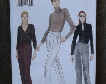 Vogue Pants Pattern 9727 - Misses boot cut Pants with back zipper SZ 14/16/18
