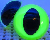 5 Pair of Glow-in-the-Dark CAT Craft Eyes (Oval Pupils)  - You Choose The Size & Color