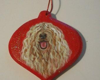 Komondor Dog Custom Painted Christmas Ornament Decoration