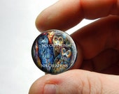 25mm 20mm 16mm 12mm 10mm or 8mm Glass Cabochon - 3 Owls  - for Jewelry and Pendant Making