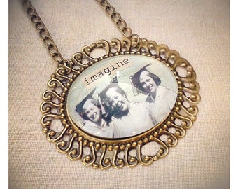 The Graduates: Imagine photo collage necklace for grads, graduation gift