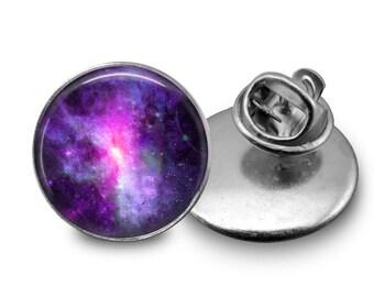 Dwarf Galaxy - Space Tie Tack or Lapel Pin - Men's