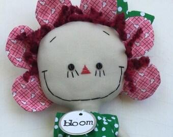 Garden Party Annie in Pink handmade cloth rag doll