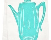 NEW coffee percolator organic tea towel