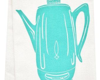 NEW coffee percolator organic tea towel