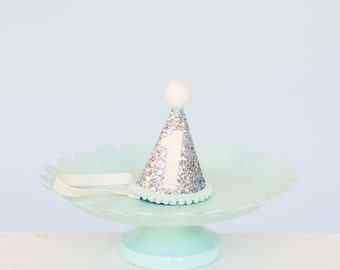 Mini Glitter Party Hat // First Birthday Crown // Smash cake photo prop