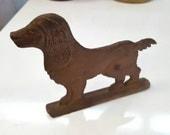 Strange Metal Dog - Sculpture, Plaque, Sign or Mailbox Topper - Aluminum
