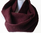 Oxblood Circle Scarf Burgundy Maroon Infinity Scarf Wool Blend Loop Men Women CHELSEA Ready to Ship - Autumn Fall Winter Fashion