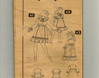 Simplicity Child's Dress Pattern 9939