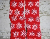 christmas leg warmers, baby leg warmers, snowflakes, red leggings, holiday outfit, baby girl clothes, christmas onesie, photo prop, dress