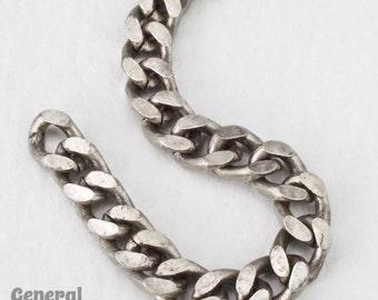 4.5mm x 4mm Antique Silver Flat Curb Chain #CC95