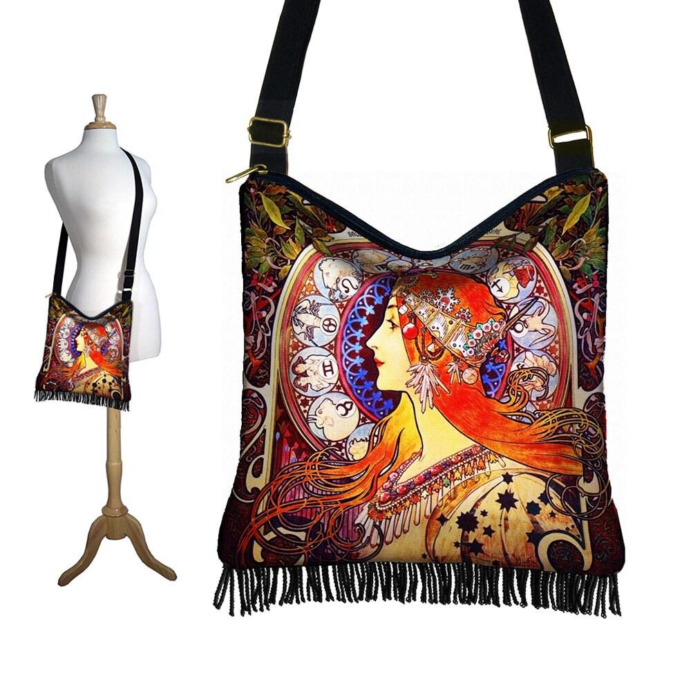 hippie bag hobo purse crossbody slouch bag gyspy boho fringe