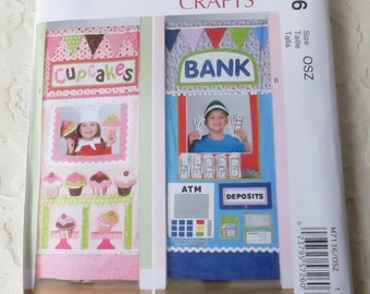 McCall's M7136 Sewing Pattern Cupcake or Bank Doorway Play Shop in One Size