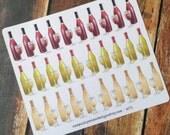 Wine Bottle Stickers for Erin Condren Plum Paper Happy Planner (ID271)
