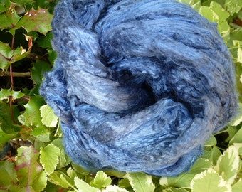 Blue Jean Hand Dyed Mulberry Silk Top 2 Ounces