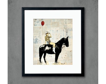 The Birthday Party Cowgirl with Horse Print