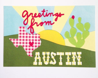 Greetings from Austin Postcard