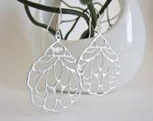 Butterfly wing jewelry, silver filigree earrings, insect wing earrings, silver earrings, laser cut earrings, butterfly bridal jewelry