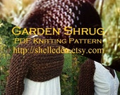 PDF Knitting Pattern for Garden Shrug PATTERN only