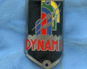 French Head Badge Bicycle DYNAMIC Unused ART DECO Antique Vintage 1379