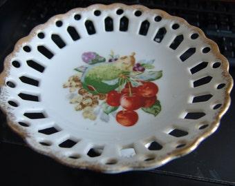 Vintage Ucagco Pedistal Fruit Dish