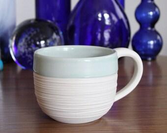 Discounted Celadon Mug - Groove Mug in Celadon - second