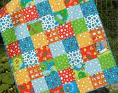 Dr Seuss Baby Quilt Lorax Patchwork Organic Crib Bedding Nursery Bedding Baby Boy Gender Neutral