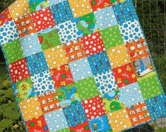 Dr Seuss Baby Quilt Lorax Patchwork Organic Crib Bedding Nursery Bedding Baby Boy Gender Neutral