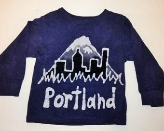 Kids Handmade Batik Portland Oregon Shirt