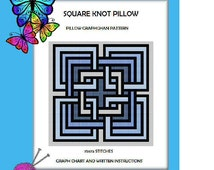 Square Knot Pillow Graphghan Pattern
