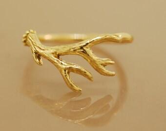 Antler Ring 2,  14 karat gold