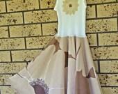 Girls Neutral Blooms Swing Dress size 4-5-6
