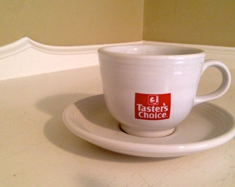 Taster's Choice Fiesta Cup and Saucer Promotional ~ Fiesta Tea Cup and Saucer ~ Promotional Cup ~ Taster's Choice