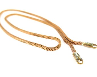 Vintage Red Brass Serpentine Necklace Chain Findings 13.5 Inches (4x) (C548)