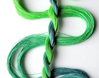 "Size 50 ""Parakeet"" hand dyed thread tatting crochet cotton"