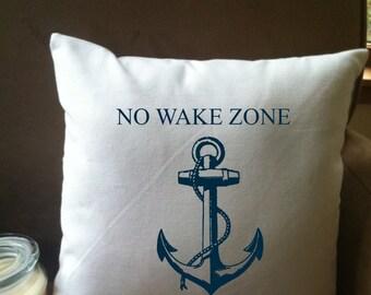 No Wake Zone throw pillow cover, custom throw pillow, decorative throw pillow