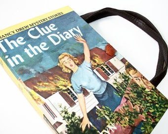 Book Purse Nancy Drew The Clue in the Diary Handbag Upcycled Book Bag Trendy Vintage Book Purse