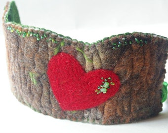Tree Birthday Crown: 'Rooted in Love' Waldorf Inspired Felted Wool Crown (Custom Made Crown for Natural Birthday or Woodland Party)