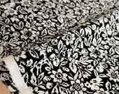 Japanese Fabric Yuwa Garden - cotton, wool slub voile - black - 50cm