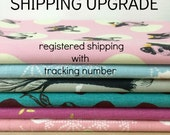 Shipping upgrade - registered shipping with tracking number