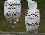 Mother/Father of the Bride Wine/Beer Glass Set