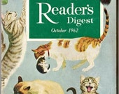 Vintage October 1962 Reader's Digest Magazine, Book, 40th. Anniversary Year, Articles, Advertisements, Stories