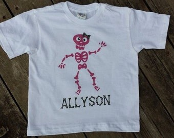 Halloween pumpkin Frankenstein Skeleton Owl Your choice  Bodysuit T-shirt Heat Press